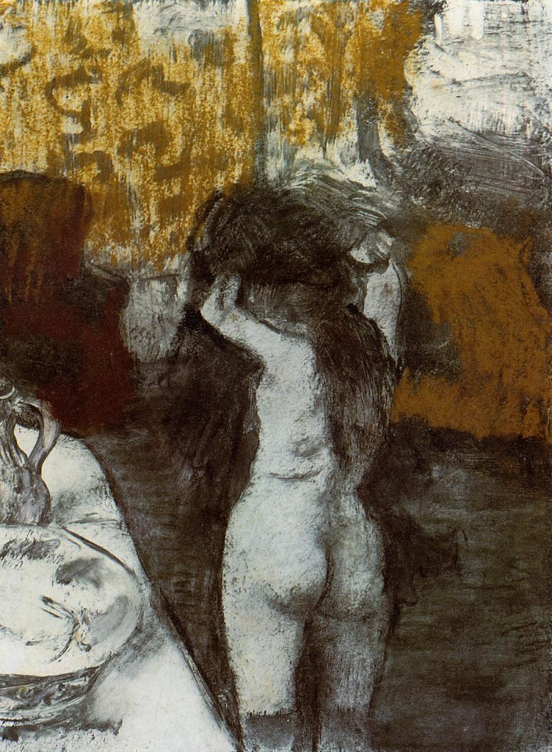 After the bath, 1876 1877, Edgar Degas